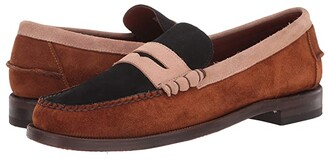 Sebago Dan Suede Tricolor (Cognac/Beige/Navy) Men's Shoes