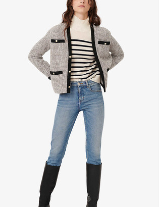 Maje Vinie relaxed-fit woven jacket