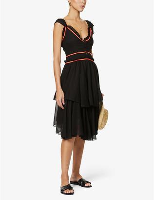 Pitusa Spanish ruffled cotton mini dress