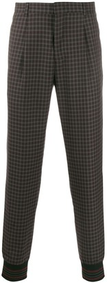 Paul Smith check pattern trousers