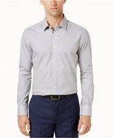 Ryan Seacrest Distinction Men's Navy and Camel Medallion Print Shirt