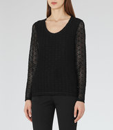 Reiss Molly Long-Sleeve Lace Top