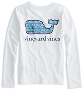 Vineyard Vines Girls' Long-Sleeve Sketched-Whale-Logo Tee