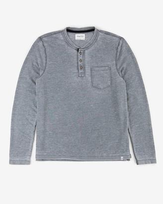 Express Sovereign Code Long Sleeve Henley T-Shirt