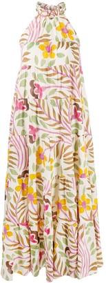 Rhode Resort Floral Print Halterneck Maxi Dress