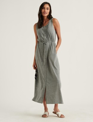 Lucky Brand Knit Pintuck Midi Dress