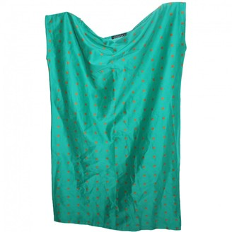 Laura Urbinati Green Silk Top for Women Vintage