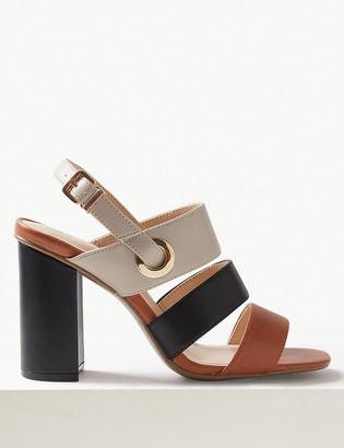 Marks and Spencer Multi Strap Block Heel Slingback Sandals