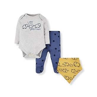 Mothercare Baby IO B M&D 3PC Set Bodysuit,(Size:92)