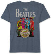 Hybrid Men's Beatles Logo Lonely Hearts Graphic T-Shirt