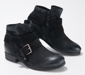 Miz Mooz Leather Wide Width Ankle Boots - Spencer