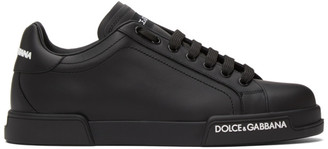 Dolce & Gabbana Black Low-Top Sneakers