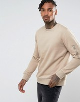 Brave Soul Crew Neck Military Sweat