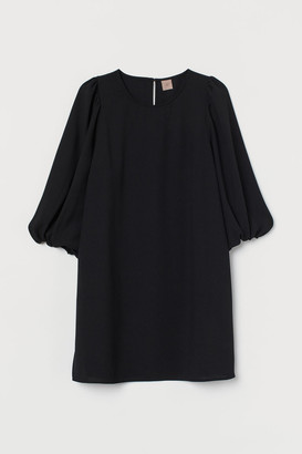 H&M H&M+ Balloon-sleeved Dress - Black