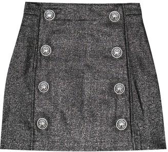 Balmain Kids Wool-blend miniskirt