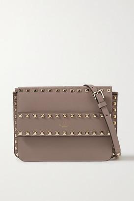 Valentino Garavani Rockstud Leather Shoulder Bag - Taupe