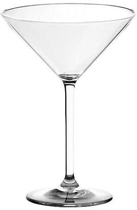 One Kings Lane Set of 6 Acrylic Martini Glasses - Clear