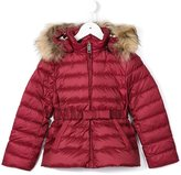 Burberry fur hooded puffer jacket