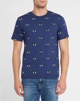 Kenzo Navy Eye All-Over Round-Neck T-Shirt