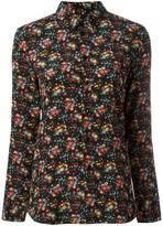 Saint Laurent Paris collar floral print shirt - women - Silk/Cotton - 36