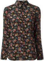 Saint Laurent Paris collar floral print shirt