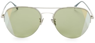 Bottega Veneta 58MM Rounded Aviator Metal Sunglasses