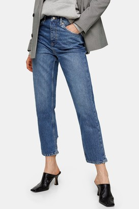 Topshop Womens Mid Stone Editor Jeans - Mid Stone