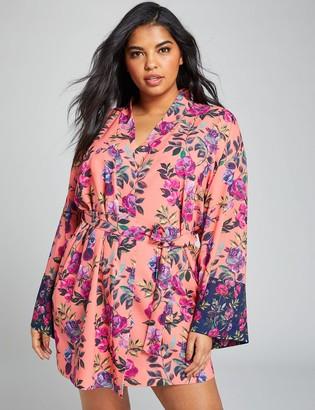Lane Bryant Mixed Floral Robe