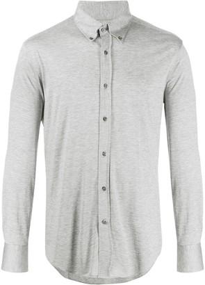 Brunello Cucinelli Textured Curved Hem Shirt