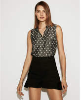 Express polka dot sleeveless city shirt by