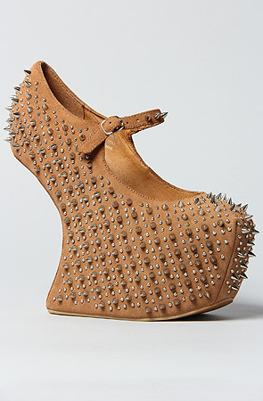 Jeffrey Campbell The Prickly Shoe in Nude Suede