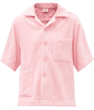 Terry - Boxy Cotton Terry-toweling Shirt - Light Pink