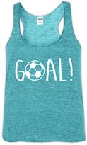 Urban Smalls Heather Aqua 'Goal!' Racerback Tank - Toddler & Girls