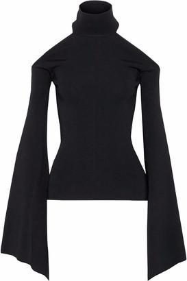 SOLACE London Lydie Cutout Stretch-knit Halterneck Top