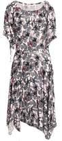Maje Printed Crepe Midi Dress