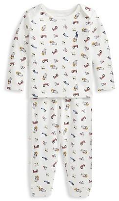 Ralph Lauren Baby Boy's 2-Piece Polo Bear Print Pajama Set