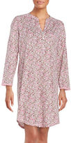 Miss Elaine Floral Splitneck Long Sleepshirt