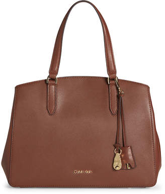 Calvin Klein Daytona Faux Leather Satchel