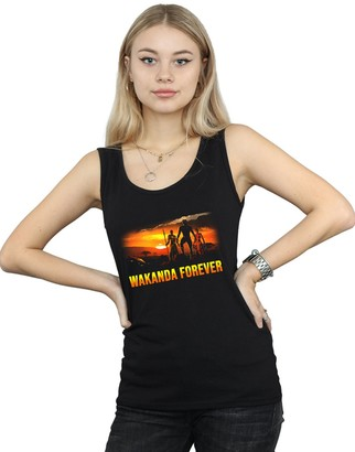 Absolute Cult Marvel Women's Black Panther Wakanda Forever Vest Black XX-Large