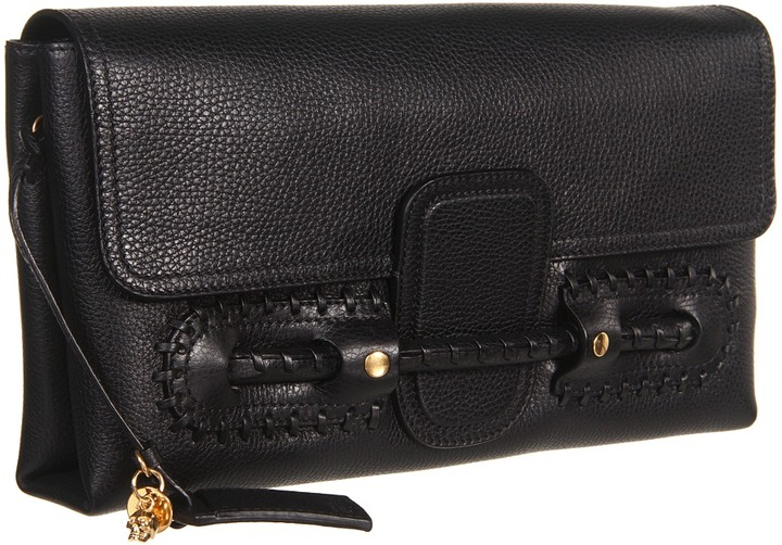 Alexander McQueen Folk Clutch (Black) - Bags and Luggage