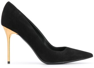 Balmain Pointed-Toe Suede Pumps