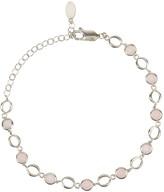 Latelita Milan Link Gemstone Bracelet Silver Rose Quartz