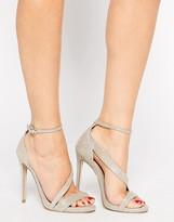 Carvela Gosh Gold Heeled Strap Sandals