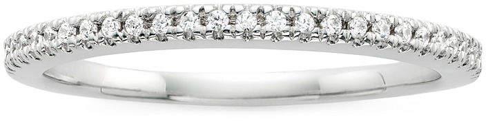 JCPenney MODERN BRIDE Modern Bride Signature 1/10 CT. T.W. Diamond 14K White Gold Wedding Band