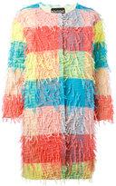 Moschino three-quarters sleeve midi coat - women - Polyester/Cotton/Acetate/Rayon - 40