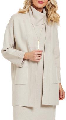 Joan Vass Petite Long Cardigan Sweater