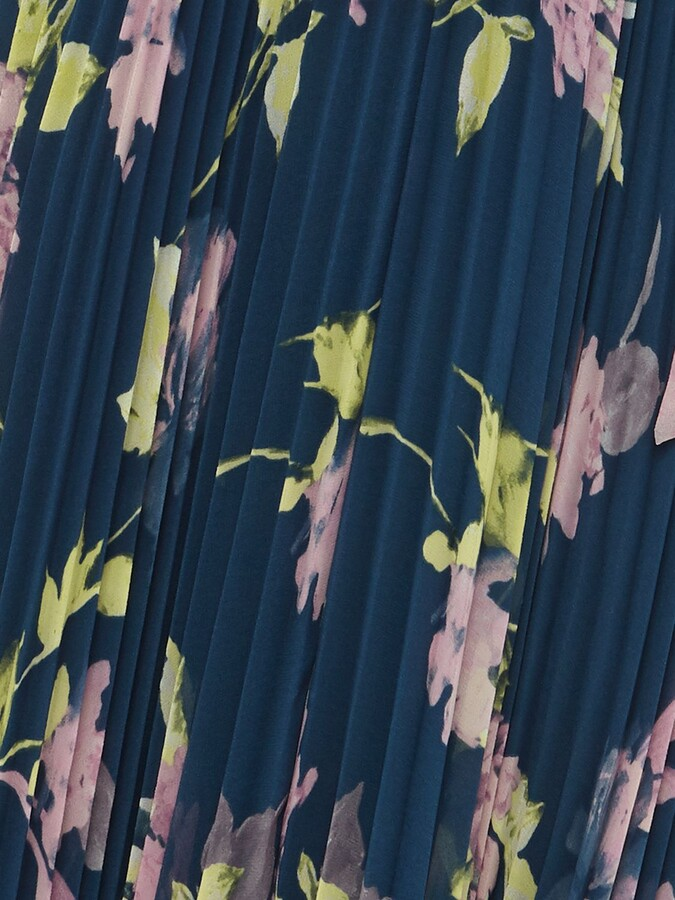 Thumbnail for your product : Phase Eight Elsa Floral Print Pleat Dress, Petrol