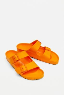 Birkenstock Arizona Orange EVA Sandals - Orange UK 3 at Urban Outfitters