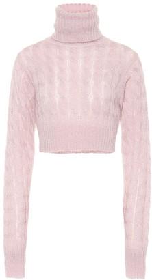 Matthew Adams Dolan Cropped mohair-blend sweater