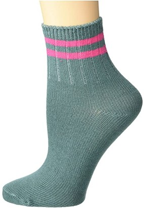 Richer Poorer Aria Ankle (Sage/Pink) Women's Crew Cut Socks Shoes